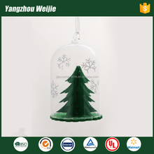 new design glass dome christmas ornament with christmas tree