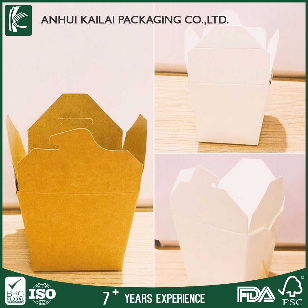Disposable kraft paper lunch box for salad with lid