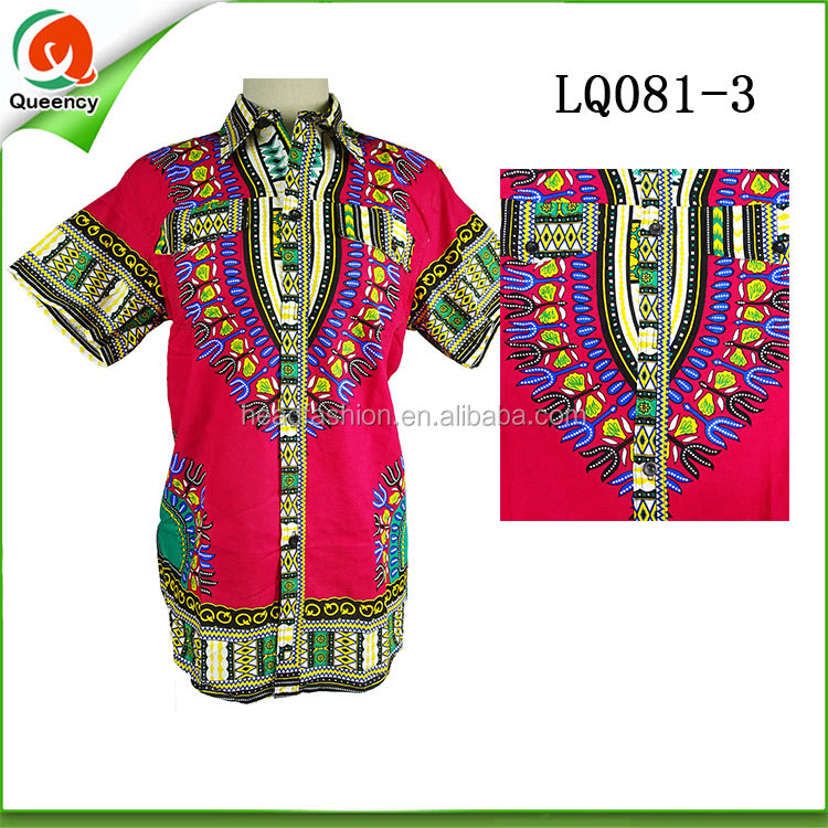 Fashion African Cotton Women Fabric Clothing Dashiki Dress Shirts ...