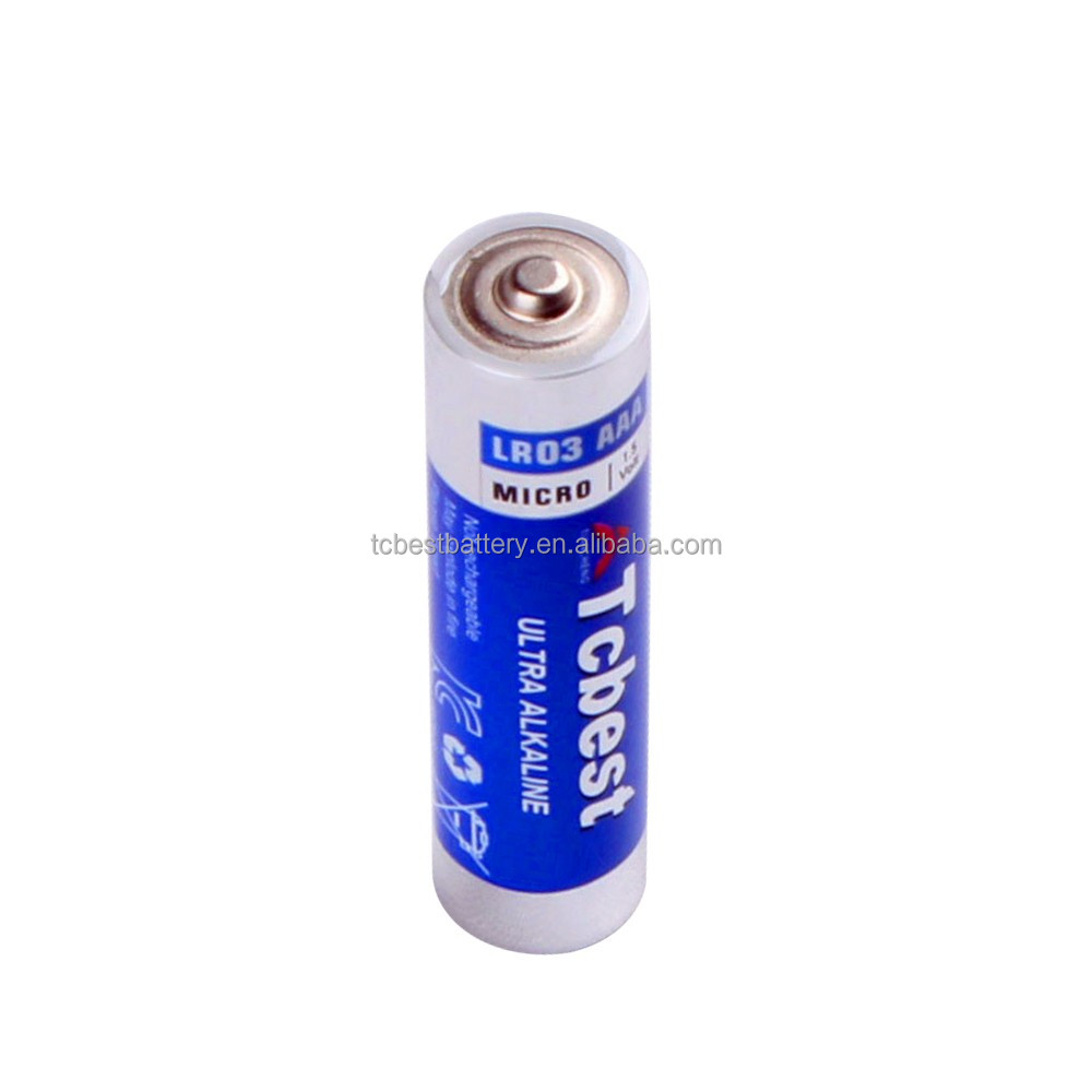 LR03 1.5V No Recharge dry batteries Size AAA, battery kids cars alkaline oem batteries/