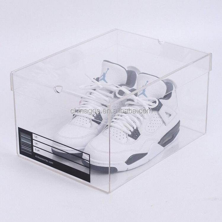 Boîte À Chaussures Transparente En Acrylique Nike Sneaker Vitrine Boîte À Chaussures En Acrylique Transparent Buy Boîte À Chaussures Sneaker,Boîte À