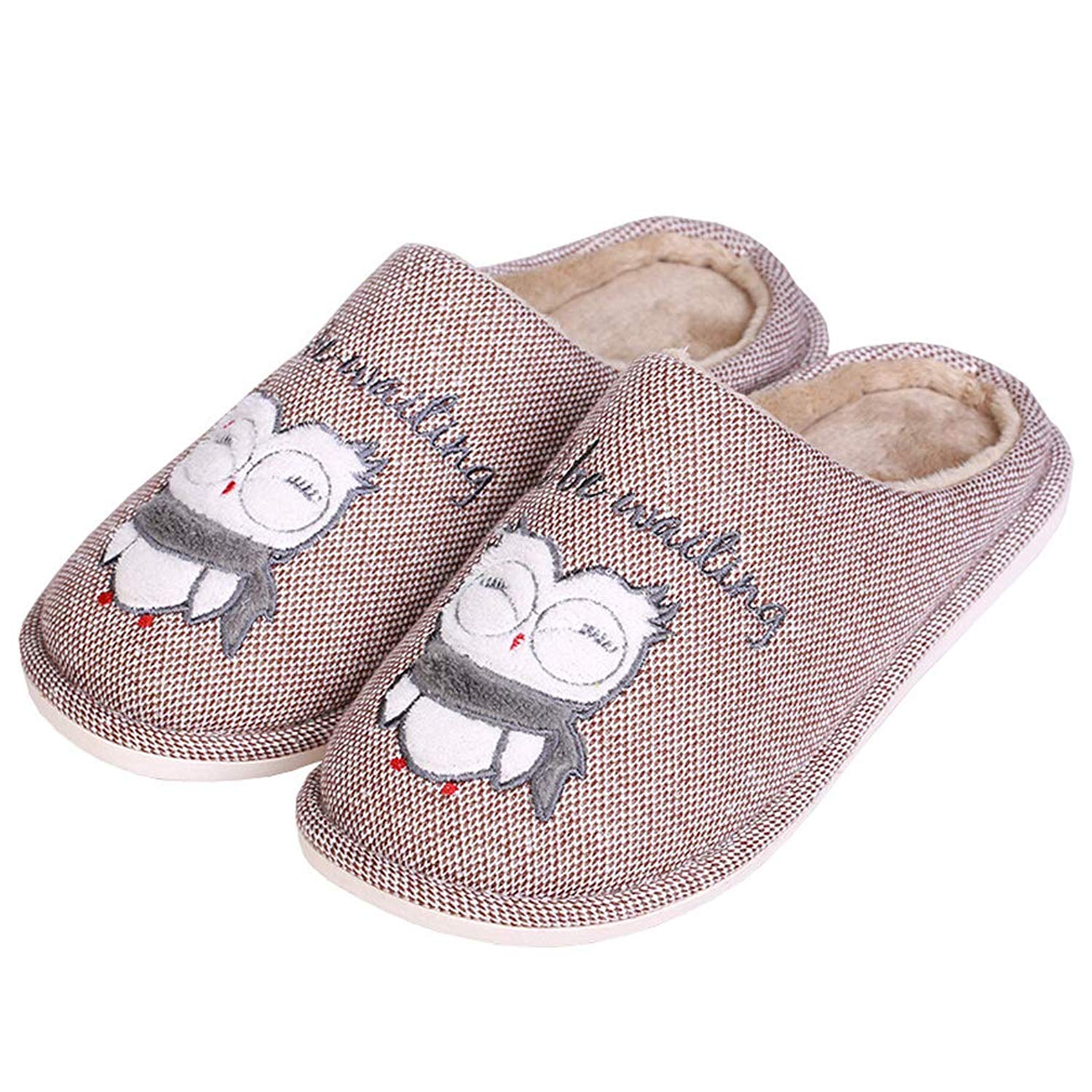 a3bbca1088d Get Quotations · ALOTUS Unisex Hand Knitted Warm Slippers with Colorful  Animal Cute Owl Indoor Outdoor