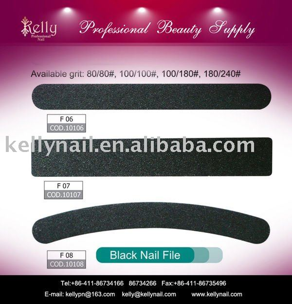 100/180/240 Different Grit And Shape Black Nail File For Nail ...