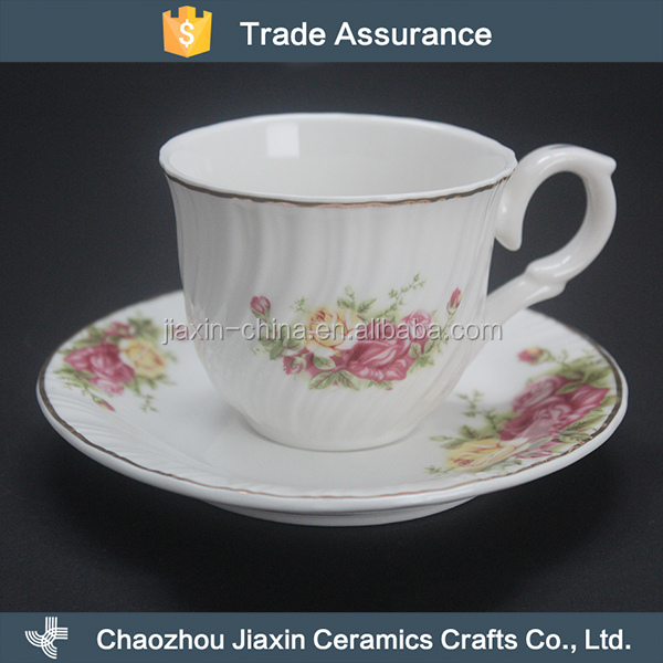 Custom made 200ml non toxic porcelain tea set coffee cup and saucer