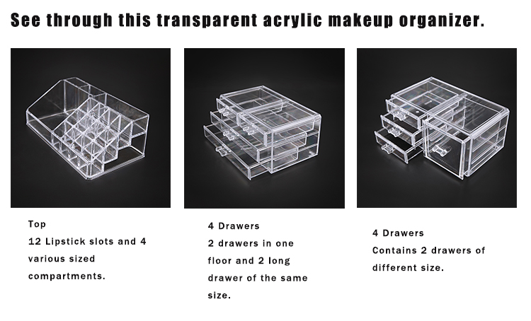 Makeup Boxes Acrylic