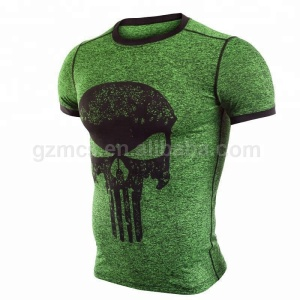 Latest Design Contrast Trim Slim Fit Muscle T-shirt Custom Printing Jogging Gym Fitness Sports Wear Manufacturer In China