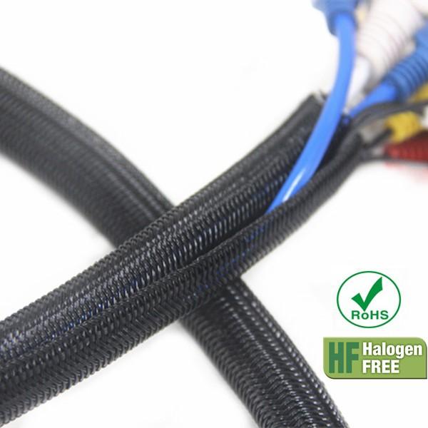 Polyester Semi Rigid Split Braided Wire Loom Sleeve Buy