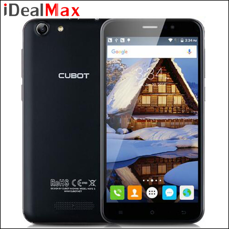"Original Cubot Note S Cell Phone MTK6580 Quad Core 2GB RAM 16GB ROM 5.5"" 1280*720 Android 6.0 Camera 8.0MP 3G WCDMA Dual Sim"