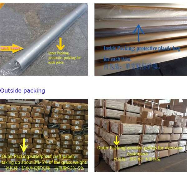 Iseral extrusion profiles from China ZHL factory, extruded OEM profiles to Canada, hot sell wood fence from poland