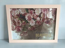 handmade wooden flower photo/ picture frame painting art for home decoration/ gift/ keepsake