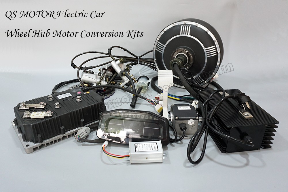 Dual 8000w 40kw peak 96v 125kph brushless dc gearless in for In wheel electric motors for cars