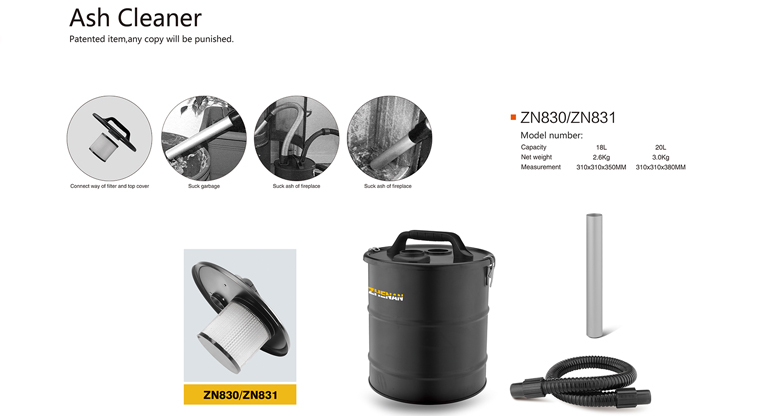 Ash Collector Fireplace Ash Container Vacuum Cleaner Seperator