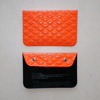PVC Ladies Purse and Travel Wallet with buttons