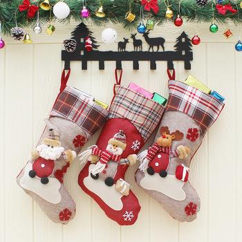 bulk plain burlap christmas stockings
