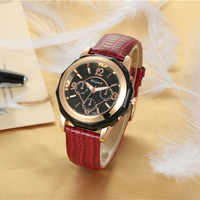 Chinese factory wholesale ladies watches,high quality fashion women watches with leather strap