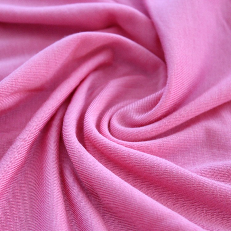 2017 hot selling 100%cotton plain dyed single jersey fabric wholesale