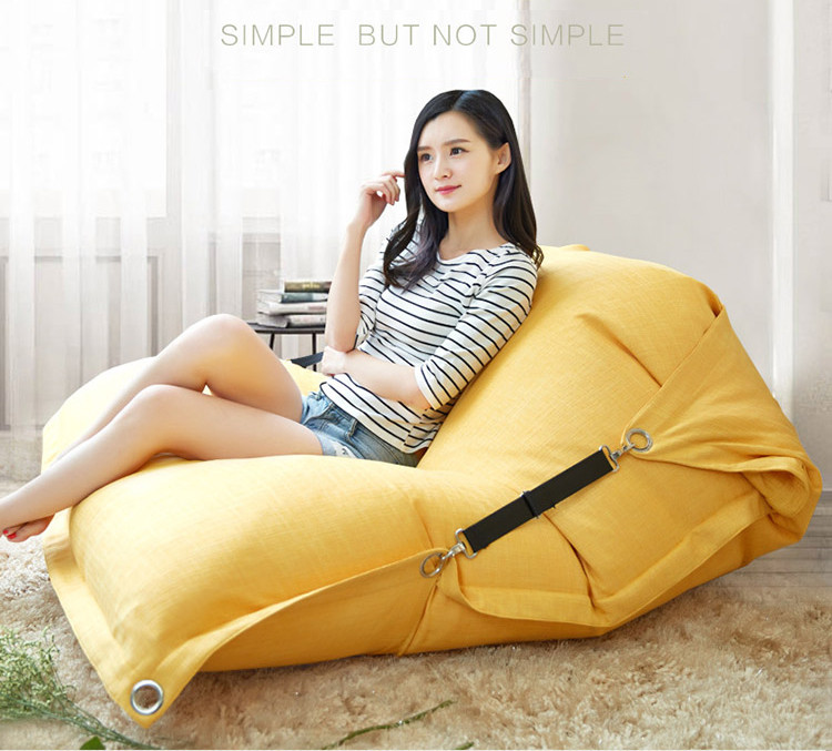 2017 Trending Products Cute 140*180cm Rectangle Shape Linen Bean bags
