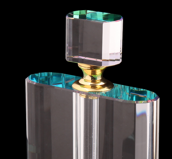 wholesale classic rectangular transparent glass style bottle perfume