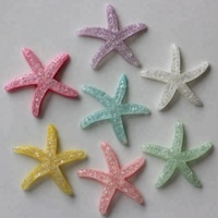 Cute Flat Back Resin Cabochons Starfish for Phone case Decorating Ornament Accessory Color Mixed