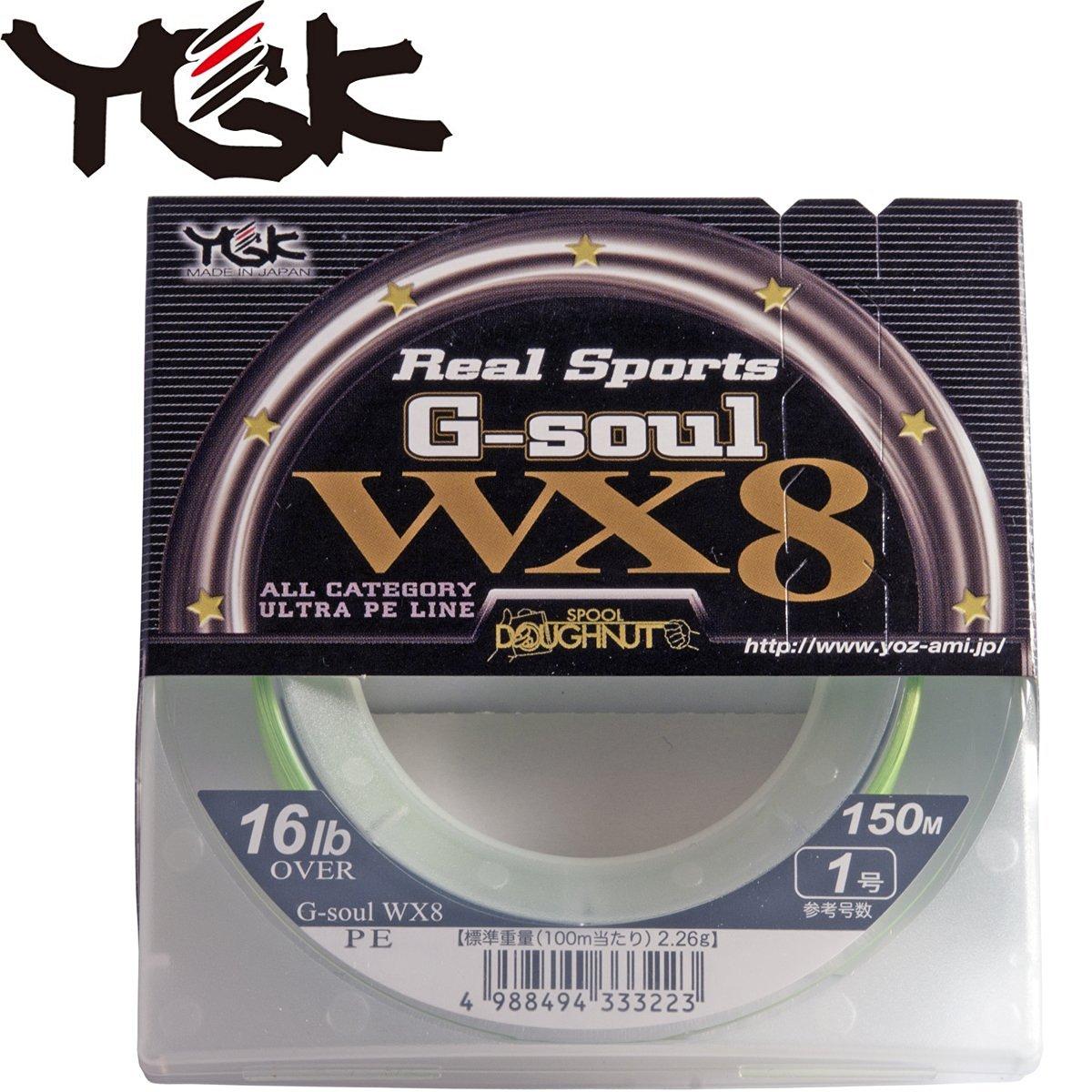 YGK Yoz-ami Real Sports G-soul Super JIG MAN X8 8braided Pe #0.6-14lbs 300m.