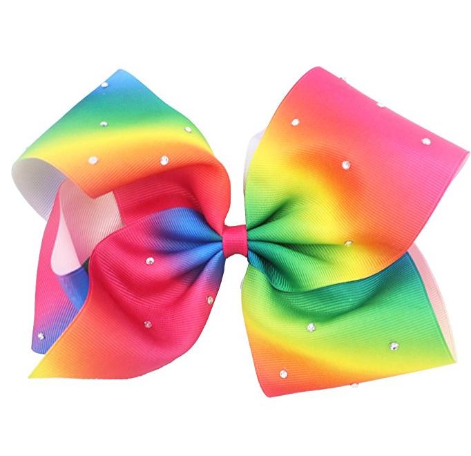 Girls Hair Accessories Large Glitter Rainbow