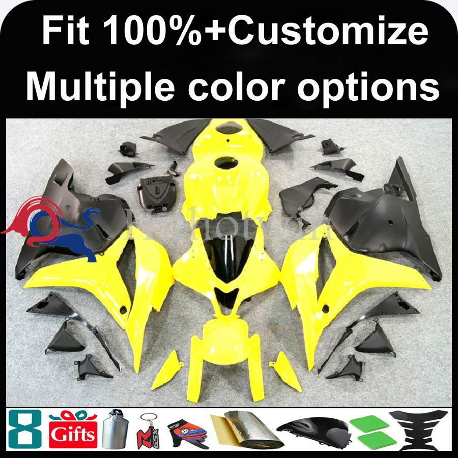 INJECTION MOLDING panels 2009 2010 2011 2012 CBR600 RR yellow black ABS Plastic Bodywork Set Fairing Fit For HONDA CBR600RR F5 C