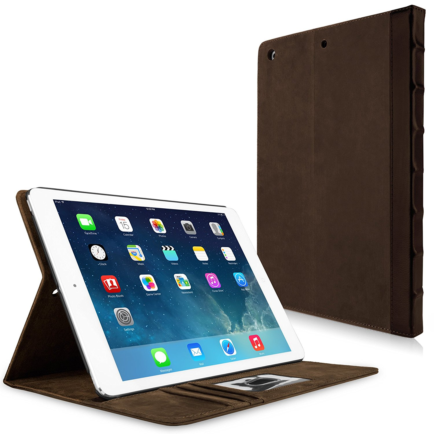iPad Air Case, BoxWave® [Classic Book Case] Vintage Book Design Wallet Cover for Apple iPad Air