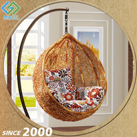 China Exporter Bubble Shape Iron Frame Kid'S Egg Swing Chair