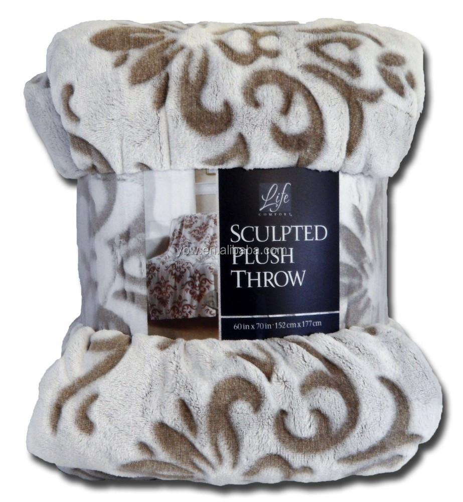 life comfort blanket Life Comfort Sculpted Plush Flannel Fleece Throw Blanket Tan With  life comfort blanket