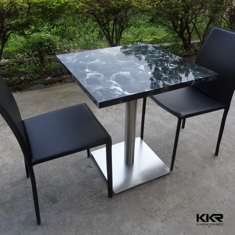 quartz stone top tables and chairs round tables view tables and chairs kkr product details. Black Bedroom Furniture Sets. Home Design Ideas