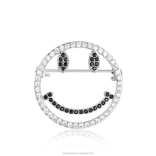 New Coming Smile Face Emoji Jewelry Crystal Brooch Kids Emoji Brooch Factory From China