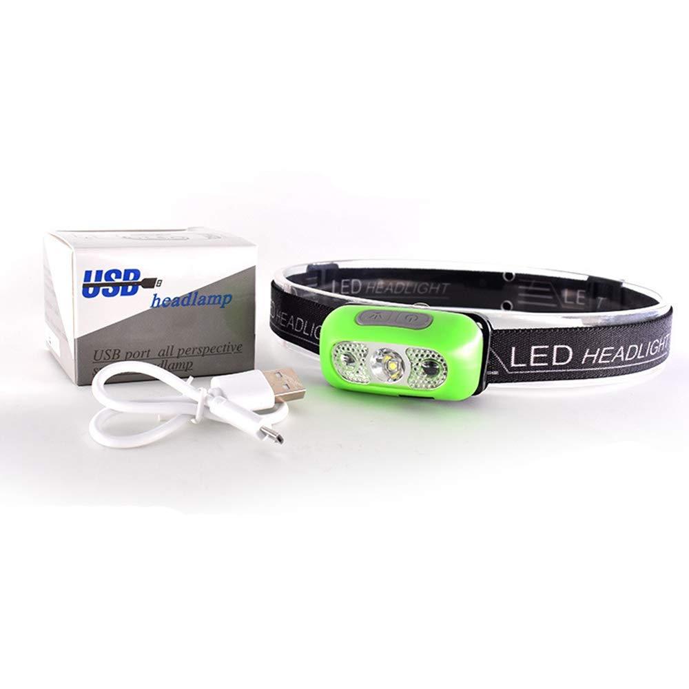 HuiCiOutDoor Rechargeable Headlamp Flashlight Waterproof Hand Induction LED Headlamp for Running Camping Reading Hiking - 500 Lumen