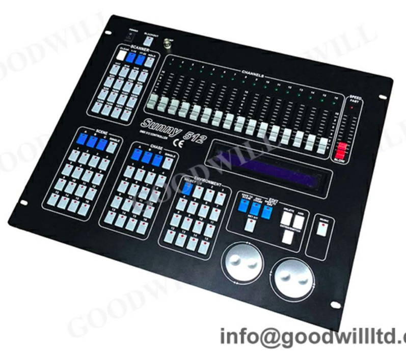 Stage right by monoprice 16-channel dmx-512 controller monoprice. Com.