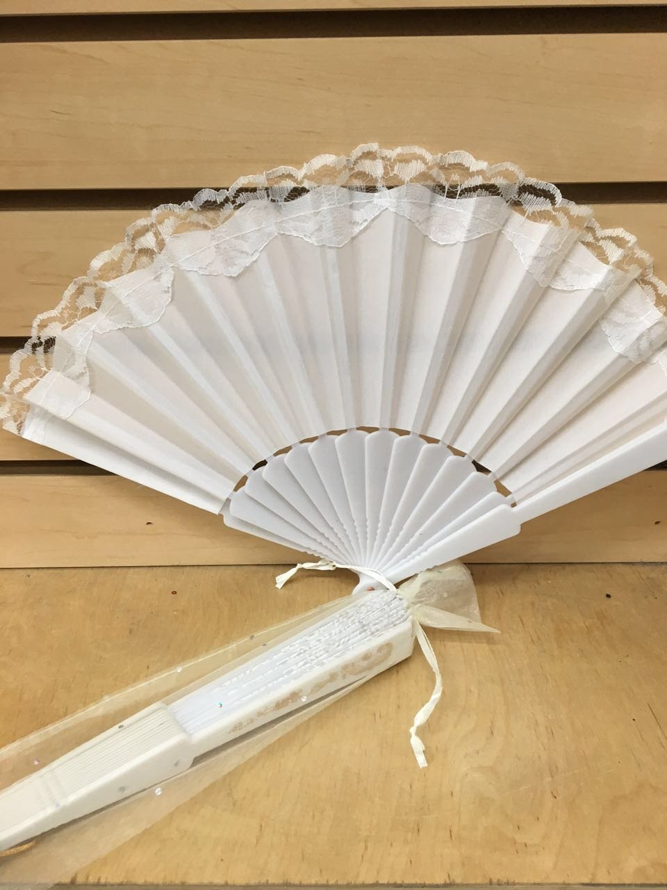 Buy 12 Sparkle Ivory Organza Bag For Hand Fan Wedding Party Favor