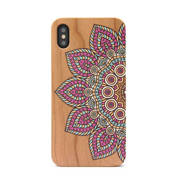 Factory Wholesale Custom Printing PC Wood Phone Case For iPhone X XR XS MAX
