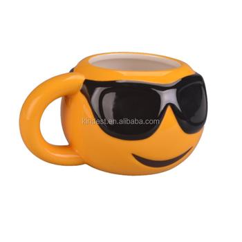 Cheap Ceramic Emoji Coffee Mug In Gift Box,Emoji Mug With Black Glasses -  Buy Cheap Emoji Mug,Emoji Mug Cup,Emoji Coffee Mug In Gift Box Product on