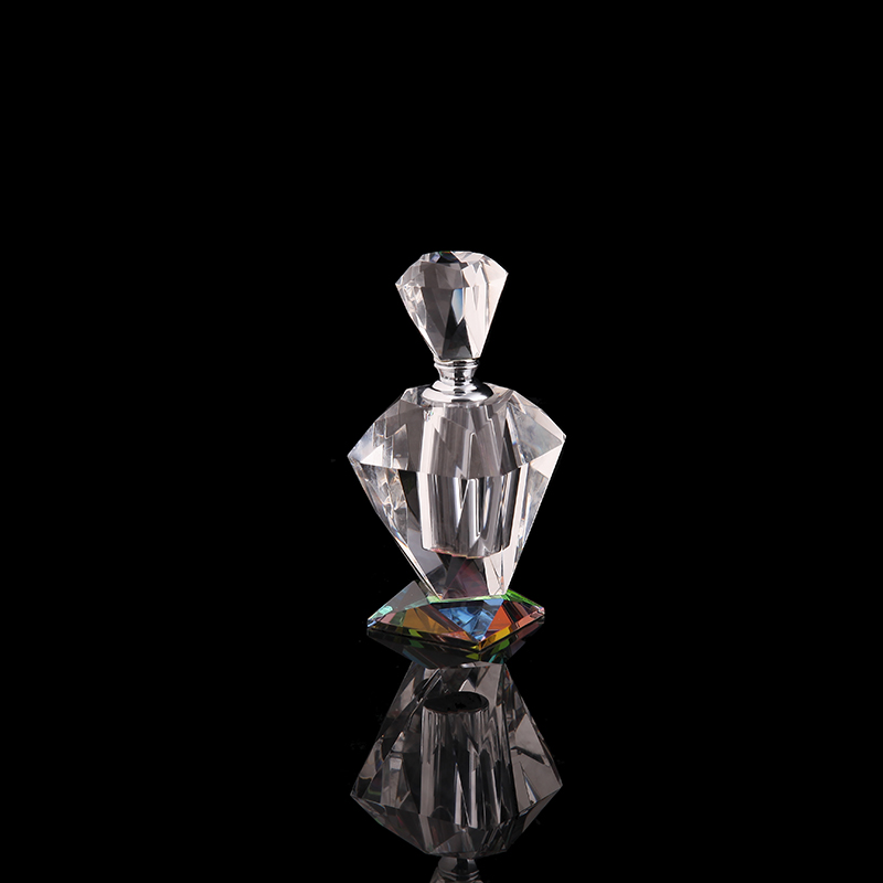 25ml high quality blank crystal diamond perfume bottle and color base
