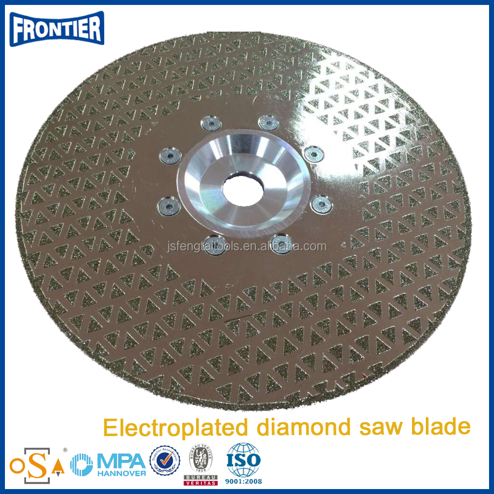 One side Electroplated diamond saw blade with clamp
