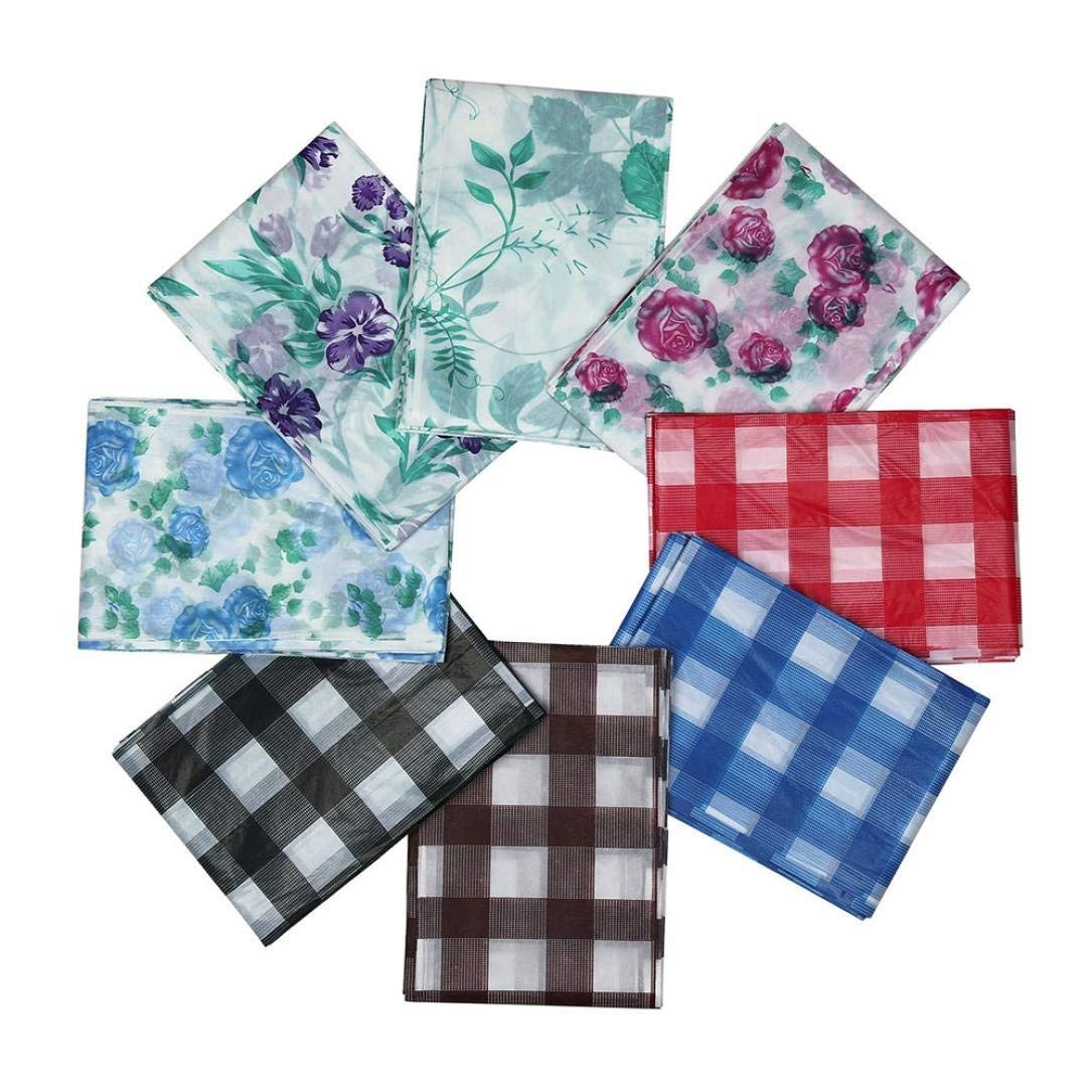 Home Kitchen Restaurant Tablecovers ,170x170CM Square Disposable Waterproof Plastic Tablecovers Table Cloth Cover for Party Catering Events Tableware