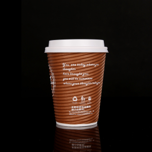 High quality triple ripple paper coffee cup