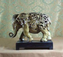 2012 resin crafts hollow elephant statues home ornament