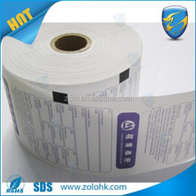 High quality private sale cheap thermal paper roll, complete specifications thermal paper ticket rolls