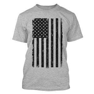 Custom Printed American Flag logo Men's Short Sleeve T-shirts Design For Men