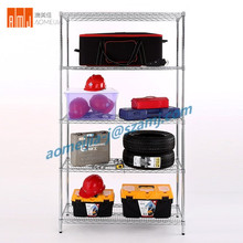 Multi layer commercial Adjustable DIY plastic coated wire shelving