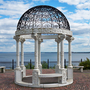 Chinese Decorative Europe Garden Marble Stone Large Outdoor Roman Gazebo