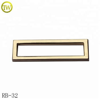 Square iron metal adjustable bag buckle gold garment webbing strap buckle