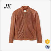 Custom Hight Quality European Mens Genuine Leather Jacket Men's Short Coat