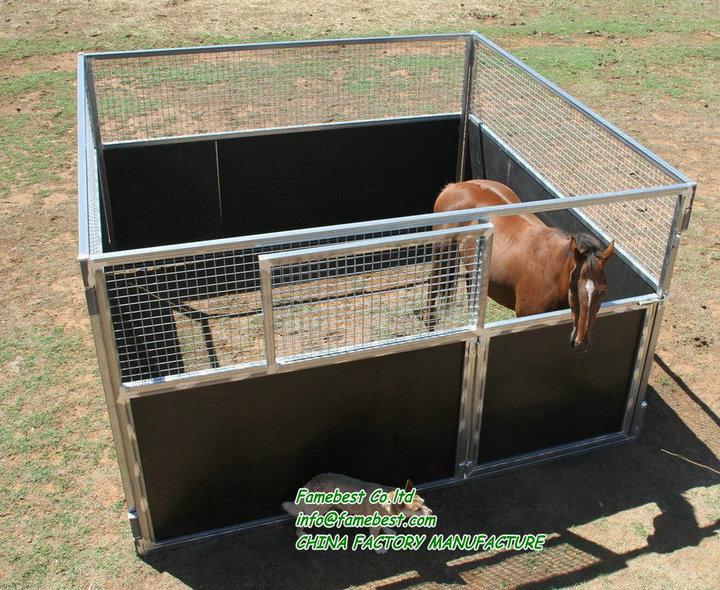 Horse Stable Front Panel With Plastic Kick Panels Horse