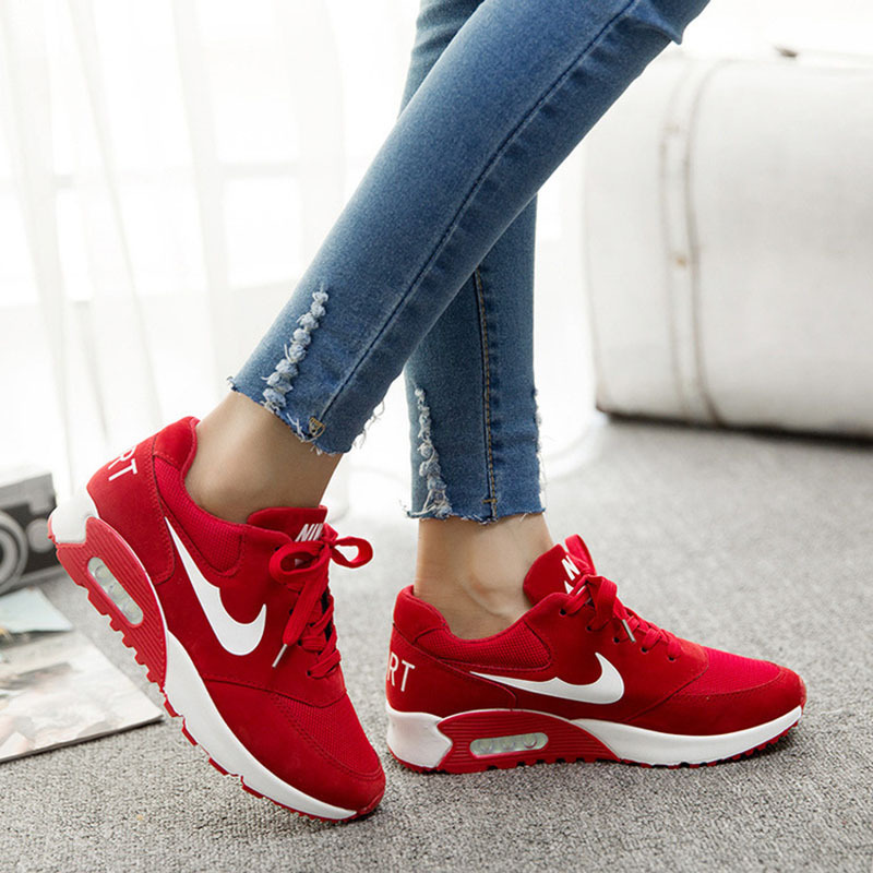 Red Low Wedges Shoes
