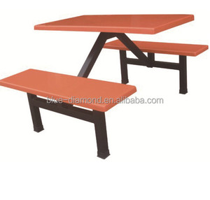 Commercial use industrial canteen furniture 4 seats table and chair set in China
